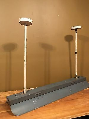 Antique Industrial Ceiling Light Fixture VTG 1930s Fluorescent Shop Garage Steel