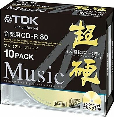 TDK Blank CDR Discs For Audio Music 24x Cd-r Gold Label 80min Japan