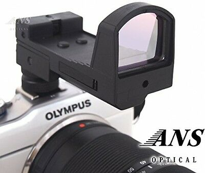 ANS Optical Tubeless Open Style Red Dot Sight, With Mount Base and Hot Shoe For