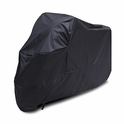XL Black Motorcycle Motorbike Motor Bike Cover Waterproof Outdoor Rain Sun Cover