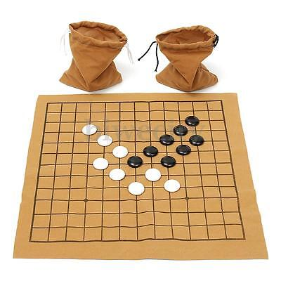 90Pcs Go Bang Game Chess Suede Leather Sheet Board Set Children Educational Toy