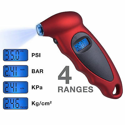 New LCD Digital Tyre Air Pressure Gauge Tester Tool For Auto Motorcycle Car Van