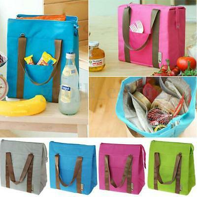 Insulated Thermal Cooler Lunch Picnic Box Carry Tote Storage Shoulder Bag Case