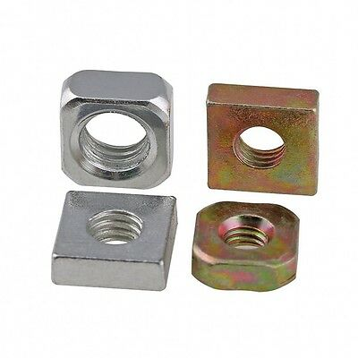 M3 M4 M5 M6 M8 Metric Square Nuts Machine Screw Nut Carbon Steel Zinc-Plated