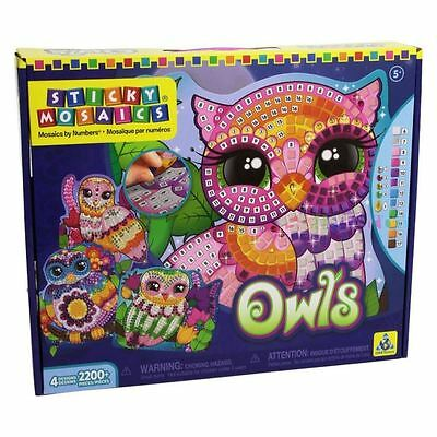 Orb Factory Sticky Mosaics for Kids - Owls