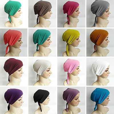 Stylish Women Cotton Muslim Hijab Cap Under Scarf Headcover Headwear