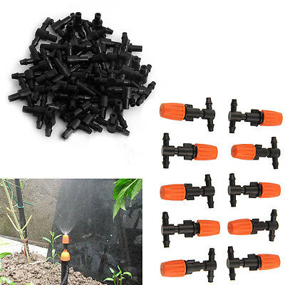 10pcs Plastic Water Misting Atomizing Sprinkler Nozzles Garden Irrigation Adjust
