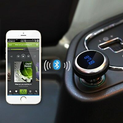 LCD Screen Car MP3 Bluetooth FM transmitter audio with wireless remote Handsfree