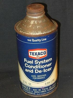 Vintage Texaco Co Fuel System Conditioner and De-Icer Used