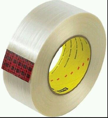 * 3M Scotch Filament Adhesive Tape Roll 8983P Clear - 48mm x 55m  Metal Strong