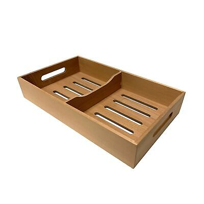 Spanish Cedar Cigar Tray, Adjustable Divider, Fits Large Humidors, Made with ...