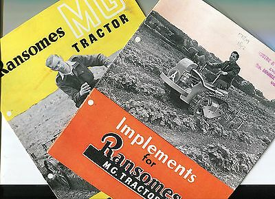 Ransomes MG Tractor set of two sales brochures  reprint