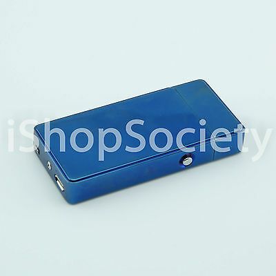 Electric Arc Plasma Flameless Torch USB Rechargeable Windproof Lighter - BLUE
