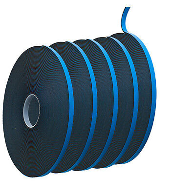 "Glazing Double Sided Foam Tape AWT 3 - Black 1/16"" x 1/4"" x 150 feet (5 Rolls)"