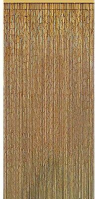 Natural Bamboo Curtain Beaded Door Entry Way 36 In Painted Room Divider Patio