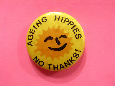 Vintage Button Pin Badge Humourous  Uk Import