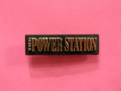 The Power Station Small Vintage Plastic Pin