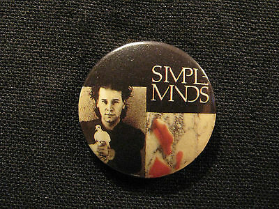 "Simple Minds Vintage 1"" Button Badges Pin Uk Made"