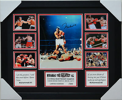 Muhammad Ali The Greatest Signed And  Framed Memorabilia
