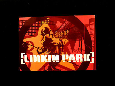 Linkin Park Official Postcard 2004 Us Made Red