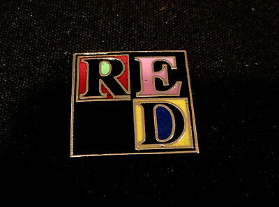 Simply Red Vintage Enamel Pin Button Badge Uk Made