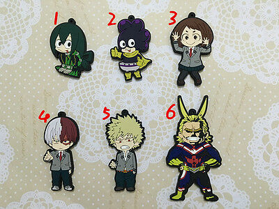 my hero academia all might tsuyu asui keychain keyring strap new