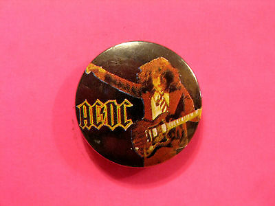 "Ac/dc Vintage 1"" Badge Button Pin Uk Import"