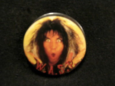 """W.a.s.p. Vintage 1 1/4"""" Badge  Button  Pin Uk Made Official"""