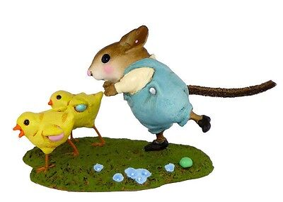 EGG SCRAMBLE by Wee Forest Folk, WFF# M-387, Retired Easter Mouse
