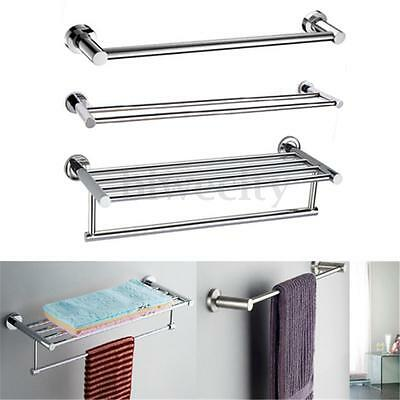 1/2/5 Rail Stainless Steel Wall Mounted Polish Towel Rack Holder Bathroom Shelf