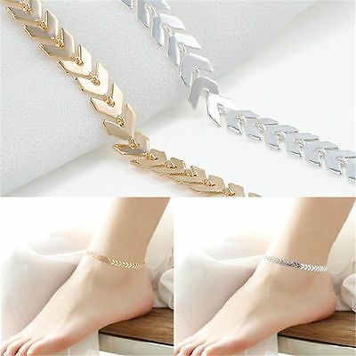 Women Lady Gold Chain Ankle Anklet Bracelet Barefoot Sandal Beach Foot Jewelry