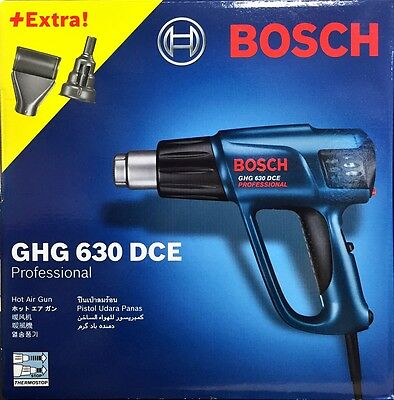 Bosch GHG 630 DCE Professional Heat Gun With Nozzles 50 - 630 °C / 220v