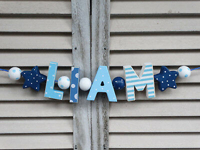 """liam"" Wooden Letters Letter Door Name Baby Shower Decoration  Shabby Chic"