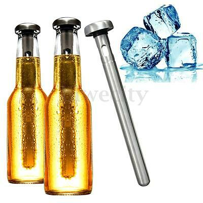 Cooling Cool Ice Wine Beer Chill Stick Rod In Bottle Pourer Tool Stainless Steel