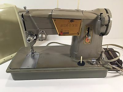 Vintage Singer 328K Sewing Machine With Case Working