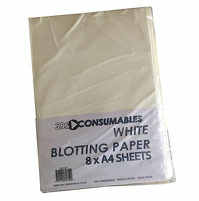 16 Sheets A4 White Blotting Paper Soak Up Excess Ink  Absorbing Calligraphy