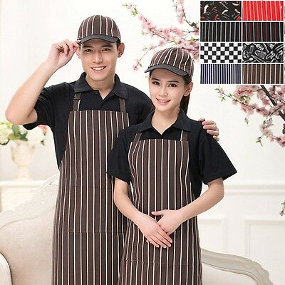 Hot  Men Women Cafe Commercial Restaurant Chef Kitchen Aprons/Baseball Cap/Set
