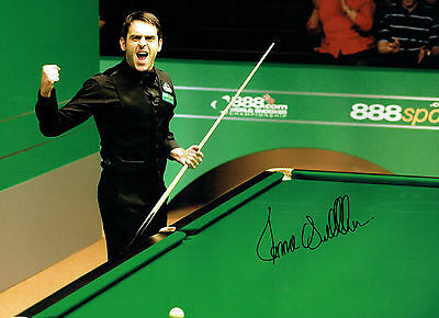 Ronnie O'SULLIVAN Signed Autograph Sheffield 16x12 RARE Snooker Photo AFTAL COA