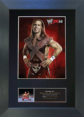 SHAWN MICHAELS WWE Signed Mounted Autograph Photo Prints A4 502