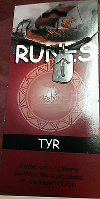 Amulet VIKING  TYR RUNE Norse RUNE  VICTORY Wicca Celtic Pewter Pendant