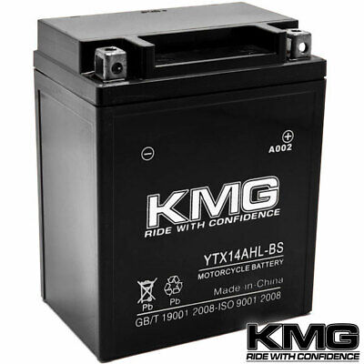 12V Battery KMG Motorcycle Scooter ATV Snowmobile Mowers Watercraft YTX14AHL-BS