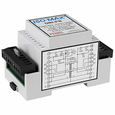 Jensen Iso-Max DIN-PB Single Channel DIN Rail Line Input/Out
