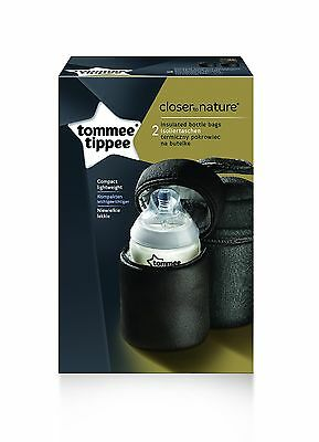 Tommee Tippee Closer To Nature Insulated Travel Baby Bottle Carriers 2 Pack New