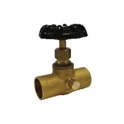 1/2 Inch Lead Free Cast Brass Stop And Waste Valve With Solder Cup Connectors