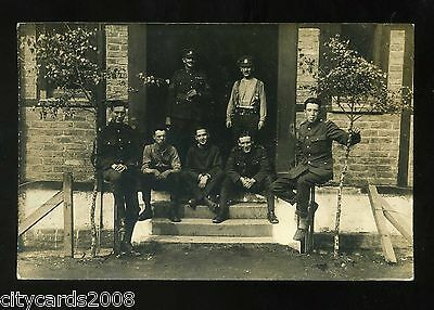 Military   Middlesex Regiment ?  Group of Soldiers  possibly in Rhineland   RP