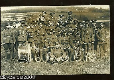 Military  MIDDLESEX REGIMENT ?  Group of Soldiers in the Band + instruments RP
