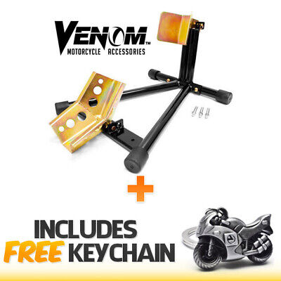 Venom Motorcycle Wheel Tire Chock Self-locking Stand Chocks+Sportbike Keychain