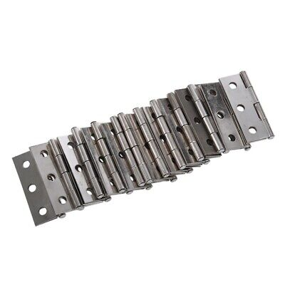 20 pcs silver cabinet door stainless steel hinges top 44 mm long PK