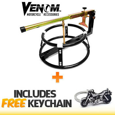 MOTORCYCLE TIRE WHEEL CHANGER CHANGING BEAD BREAKER PORTABLE+Cruiser Keychain