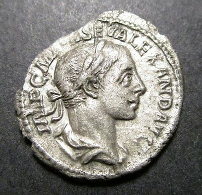 Imperial Rome - Severus Alexander Silver Coin AD 223 (Mars)